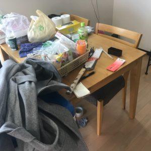ダイニングテーブルの不用品回収写真