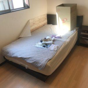 富山でのベッドの不用品回収の写真