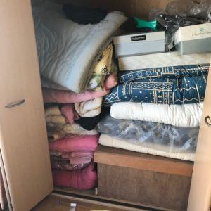 富山での布団の不用品回収写真