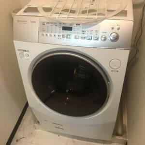 ドラム式洗濯機の不用品回収現場写真