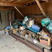 富山県滑川市の車庫の不用品回収現場写真