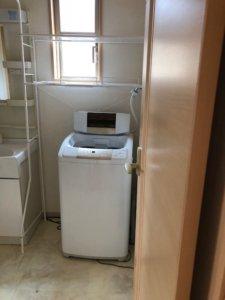 富山市、マンション内の不用品回収洗濯機写真