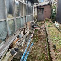 富山の不用品回収、お庭の現場写真