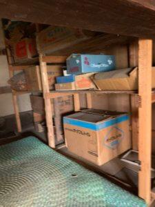 富山県富山市遺品整理現場、屋根裏部屋