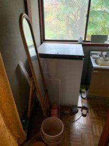 富山県立山町、冷凍ストッカーの不用品回収現場写真