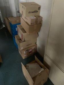 富山市工場内の不用品回収物写真