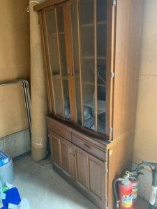 富山県富山市、食器棚の不用品回収現場写真