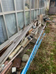 富山県富山市、お庭の不用品回収現場写真