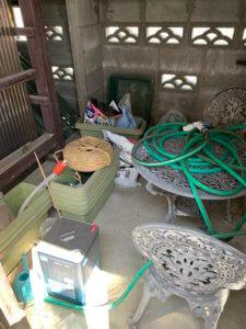 富山の不用品回収現場写真、園芸用品や肥料の写真